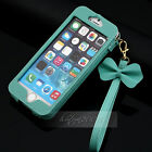 Luxury Chain Wristlet Strap  BOW Pouch Sleeve Leather Case for iPhone 6 /6 Plus