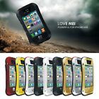 Aluminum Gorilla Glass Metal Cover Case for iPhone 4 4S Waterproof Shockproof LM