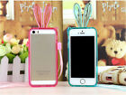 Bunny TPU Rubber Clear Rabbit Rope Bumper Frame  Case Cover For Iphone 4 5 4S 5S