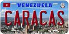 Caracas Venezuela Aluminum Novelty Car License Plate P01