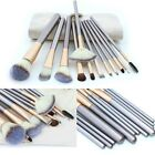 12pcs Pro Makeup Brushes Set Blush Eyeshadow Eyeliner Lip Brush Tool + Pouch Bag