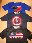 Under Armour Alter Ego Capt America Batman Superman Compression Shirt Nwt Sml