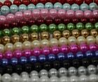 Pack of 130 pieces 6mm Round Glass Pearl Beads Jewellery Making Bead Craft
