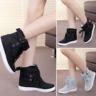 Lady Lace Up Soft Sneakers Buckle Strap Hiking Flats Ankle Boots Sport Shoes New