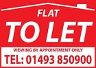 Flat To Let Window Sign