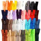 "Short Closed End Zips Many Colours 7"" 18 cm Crafts Purse Dolls Skirt Trouser ARJ"