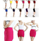 Women Elegant A Line Candy Color Stretch Mini Skirt Fitted Slim Tight Shorts