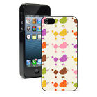 For iPhone SE 5 5S 5c 6 6s 7 Plus Hard Case Cover 1068 Colorful Poodle Dogs