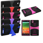 ZTE ZMax Hybrid Phone U Case Cover Fitted Armor Skin Case w/ Stand Protector