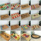 New Colourful Patterned Modern Entrance Coir Rubber Door Mats UK Indoor Outdoor