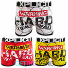 Xplicit Mens Designer 'Warning Hard Times' Novelty Funny  Shorts Boxer Trunks