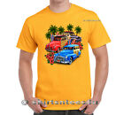 Classic Cars And Surfboards Graphic Design Mens T Shirt
