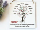 Personalised Family Tree Plaque Wooden Sign Gift Handmade W130
