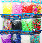 600 / 7000 Kids Loom Bands Rubber Bandz SClips Charms Mix Colour Refill Pack Kit
