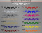#116-01 BUTTERFLY Tribal Flame Windshield Decal Window Sticker Graphic Design