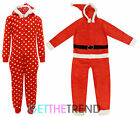 Mens Womens Adults Red Santa Spot All In One Fleece Onezee Novelty Outfit S-XL