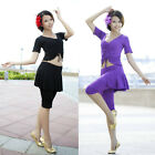 SF20# Mercerized Cotton Belly Dance Yoga Costume (Top,Pants with Skirt) 9 Colors