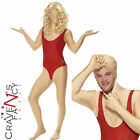 Adult Baywatch Babe Second Skin Costume Mens Funny 1980s Fancy Dress Outfit New