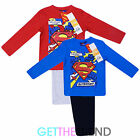 Boys Official Superman Kapow Superhero Nightwear Pyjamas Top Bottoms Cotton PJs