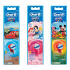 Braun Oral-B Kids Toothbrush Replacement Brush Head Princess/Mickey Mouse/Cars