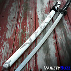 JAPANESE SAMURAI SWORD KATANA High Carbon Steel Ninja Blade BLACK Dragon Tang