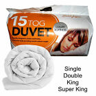 POLYPROPYLENE DUVET/QUILT 15 TOG SINGLE,DOUBLE,KING,SUPERKING