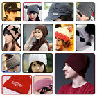 Unisex Men Women Hip-Hop Warm Winter Knit Ball Ski Beanie Skull Cap Beanie Knit