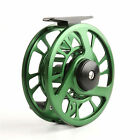 Green Color CNC Machine Cut 3/4 5/6 7/8 Aluminum Large Arbor Fly Fishing Reel