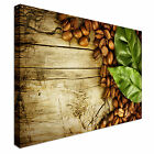 Coffee Beans Leaves, Cafe Food Canvas Art Cheap Wall Print Home Interior