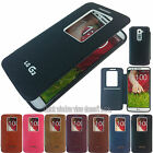 Window View Bumper Wallet Flip Leather Case Cover For LG G2 D802