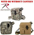 Military Scouting Hunting Camping 2Qt Canteen & Cover With Strap & Belt Clips