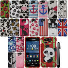 For Kyocera Hydro Elite C6750 DIAMOND BLING CRYSTAL HARD Case Phone Cover + Pen