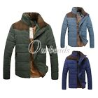 Men Casual Slim Winter Thick Cotton Padded Down Coat Jacket Outwear 3 Colours