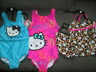HELLO KITTY GIRLS 3D OR PINK SWIMMING COSTUME OR LEOPARD TANKINI SET AGE 4 5 6 7