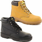 MENS SAFETY STEEL TOE CAP BOOTS LACE UP WORK TRAINERS LEATHER SHOES SIZE 6 - 12