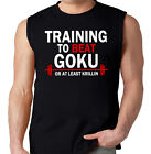TRAIN INSAIYAN 'TRAINING TO BEAT GOKU OR AT LEAST KRILLIN' MUSCLE SHIRT SINGLET