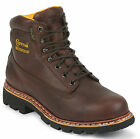 Chippewa Mens 6-Inch Norwegian Welt Boot Waterproof Rated Brown 25945 Extra Wide