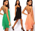 ❤Clearance❤Sexy Womens Chiffon Backless Cocktail Party Sundress Cool Beach Dress