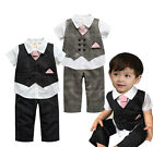 Baby Kids Page Boy Holy Suit, Shirt Waistcoat Bow Tie Pants Set, 6M 1 2 3 4Y NEW