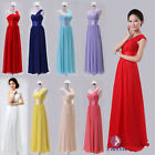New Long Chiffon Evening Formal Ball Prom Gown Bridesmaid dress One-shoulder