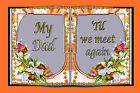 PERSONALISED MEMORIAL GRAVE REMEMBRANCE CARD WITH HOLDER ~ DAD DESIGN #4
