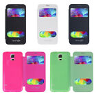 1pcs S-View PU Leather Flip Case Cover Skin For Samsung Galaxy S5 i9600 G900
