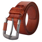 Men's Genuine leather Antique Casual Business Dress Waist Belt