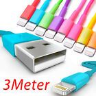 3 Meter USB Data Sync Charger Cable for iPhone 5 iPod Touch 5 Nano 7 iPad 4 Mini