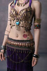 Tribal Style Belly Dance Costume 2 Pics Bra&Skirt 34B/C 36B/C 38B/C XL/Bra D Cup