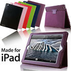 LEATHER MAGNETIC SMART COVER CASE WITH SLEEP WAKE FOR THE NEW IPAD 2 3 IPAD 4 UK