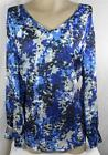 Liz Claiborne Womens Plus Size Shirt Top Blue Long Sleeve Blouse Size 1X 2X 3X