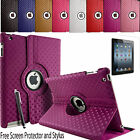 360° Rotating Diamond Leather Folding Folio Stand Case Cover For Apple iPad5 Air