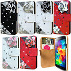 New 3D Bling Diamond Leather Wallet Flip Case Cover For Samsung Galaxy S5 Mini