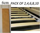 Spare replacement beech metal bed base slats,slatts,slates.Curved beach wooden